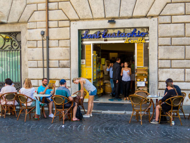 Sant'Eustachio coffee, Rome, Italy stock photo