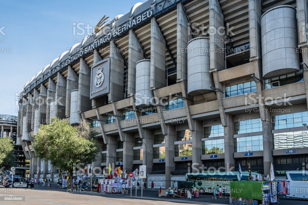 Santiago Bernabeu Stadium in Madrid stock photo