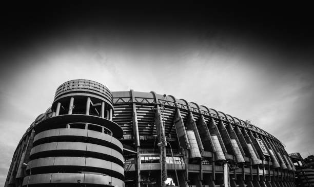 Santiago Bernabeu Stadium of Real Madrid in Madrid, Spain stock photo