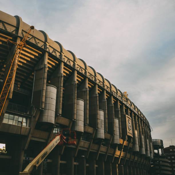 Santiago Bernabeu Stadium of Real Madrid in Madrid, Spain stock photo