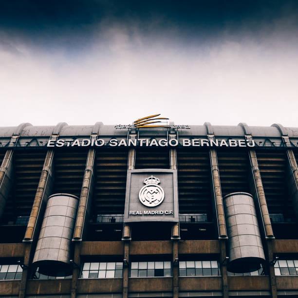 santiago bernabeu stadium of real madrid in madrid, spain - ronaldo imagens e fotografias de stock