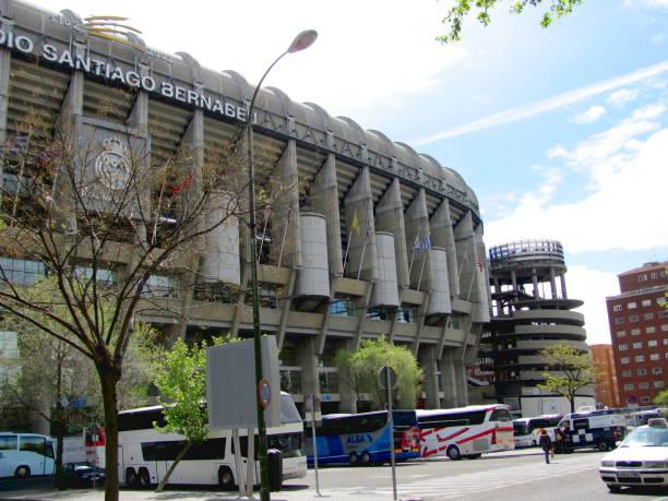 santiago bernabeu stadium of real madrid - ronaldo imagens e fotografias de stock