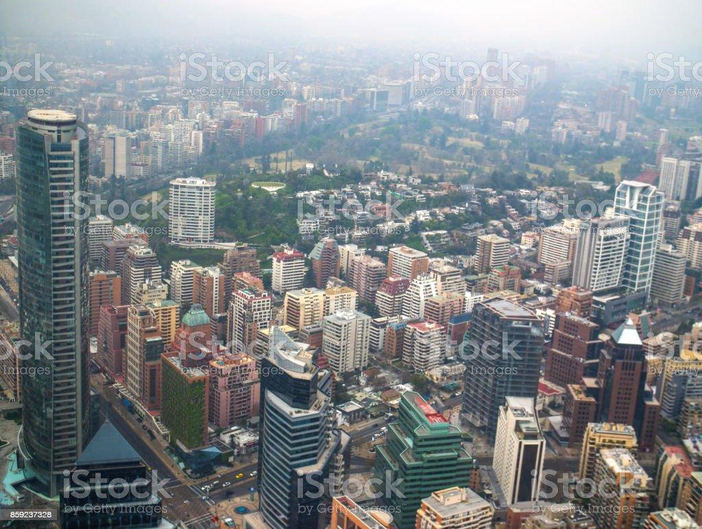 Santiago Chile Cityscape stock photo
