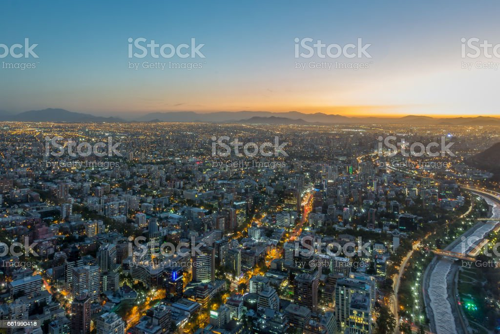 Santiago Chile Highlights royalty-free stock photo
