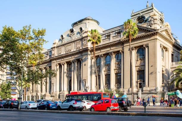 Santiago, Chile, Gebäude der Nationalbibliothek. – Foto