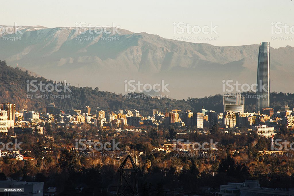 Santiago Chile Skyline stock photo