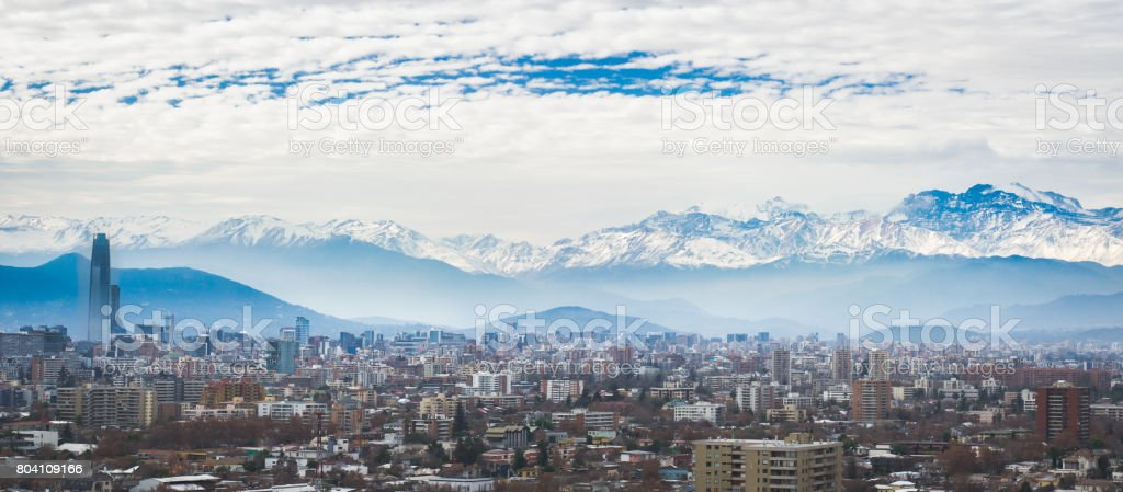 Santiago City View stock photo
