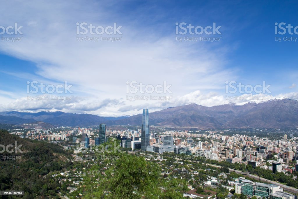 Santiago cityscape stock photo