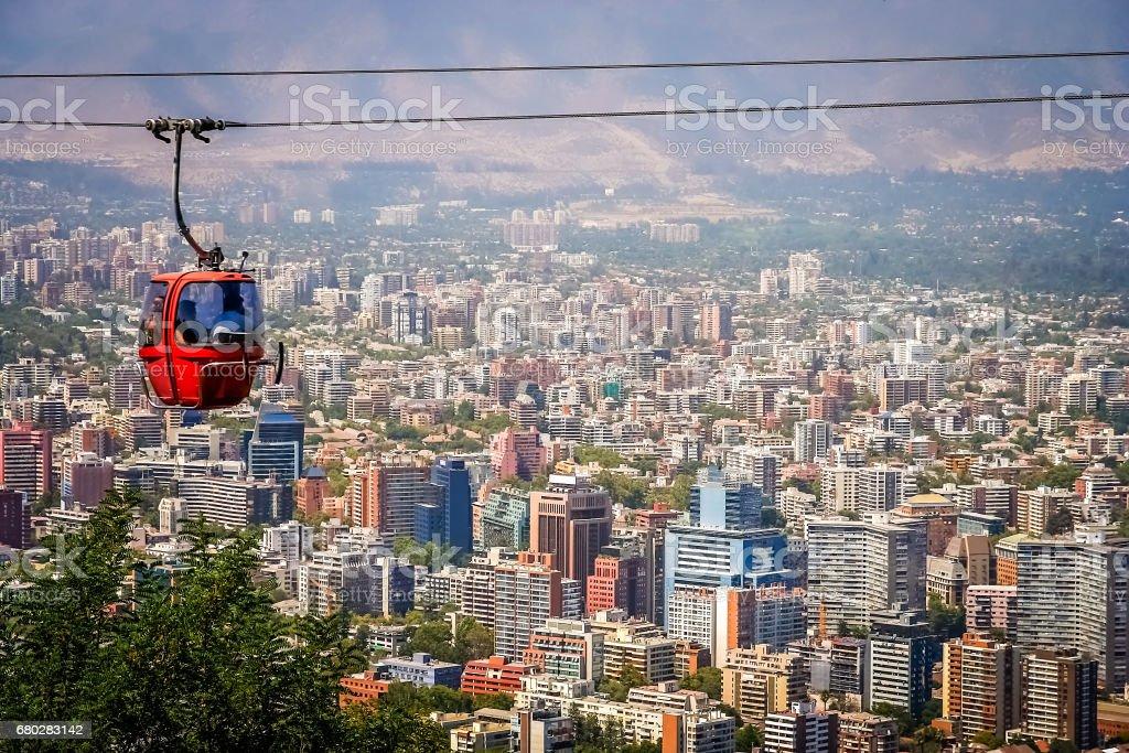 Santiago de Chile cable car stock photo