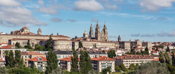 Santiago de Compostela panoramic view stock photo