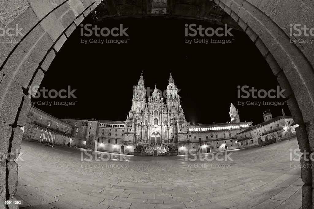 Santiago de Compostela - Plaza del Obradoiro royalty-free stock photo