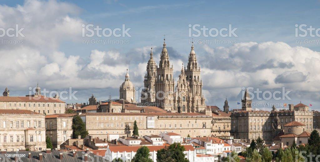 Santiago de Compostela view stock photo