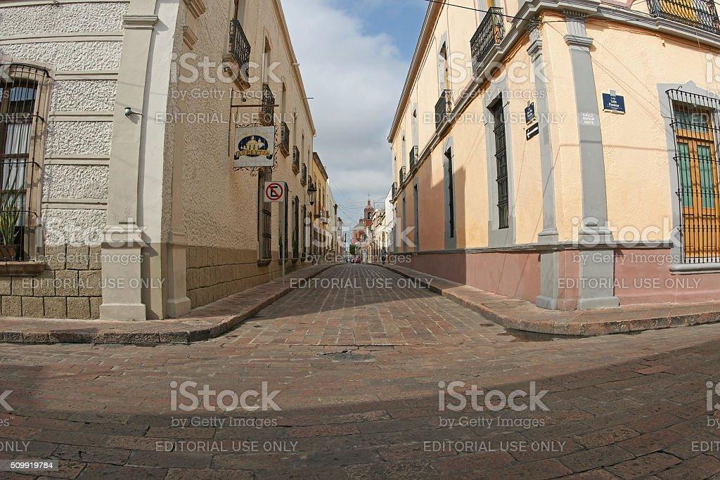 Santiago de Queretaro historic city center, Mexico stock photo