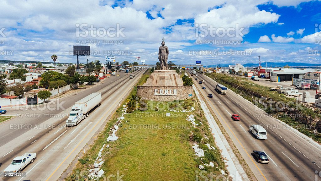Santiago de Queretaro Mexico stock photo