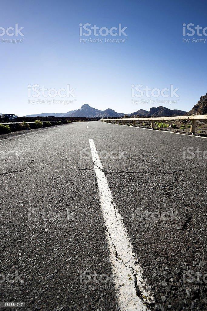 Santiago del Teide road stock photo