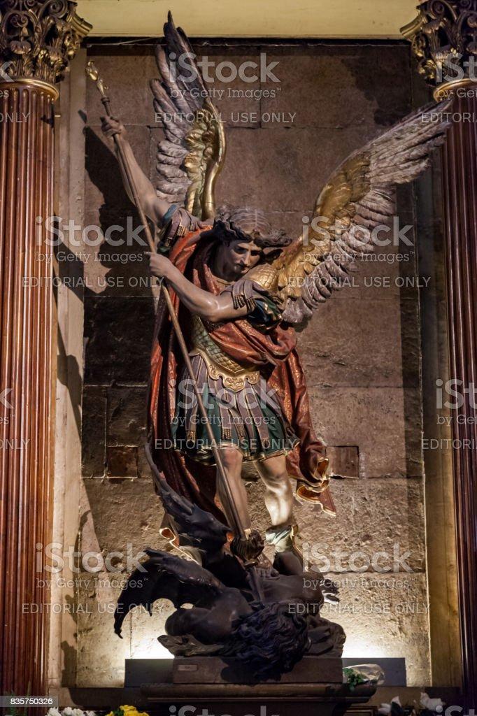 Santiago do Chile Metropolitan Cathedral stock photo