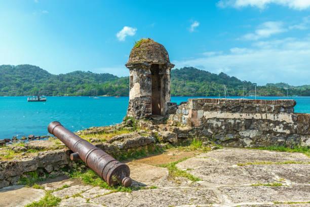 Santiago Fortress in Portobelo stock photo