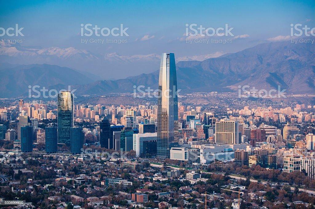 Santiago of Chile stock photo