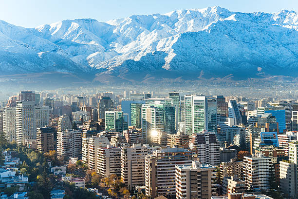 Santiago whhite cityscape Santiago whhite cityscape chile stock pictures, royalty-free photos & images