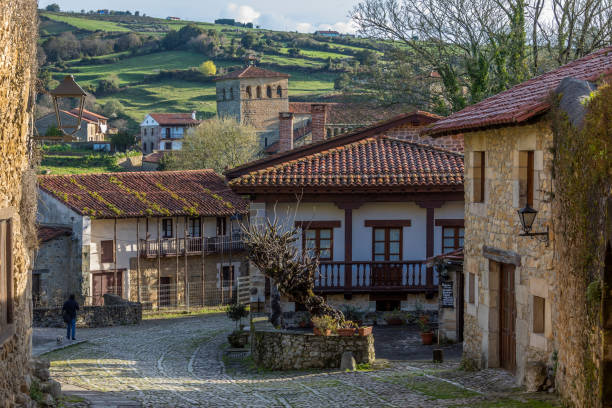 Santillana del Mar - Cantabria in northern Spain stock photo
