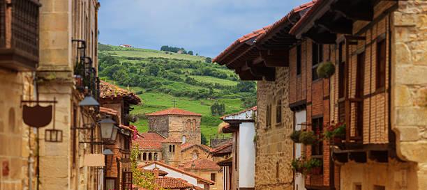 santillana del mar village - town of santillana del mar. cantabria, spain cantabria stock pictures, royalty-free photos & images