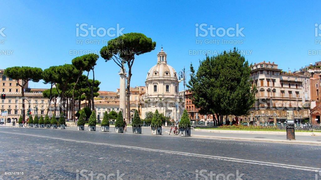 Santissimo Nome di Maria al Foro Traiano Church stock photo