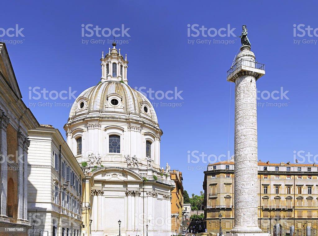 Santissimo Nome di Maria Rome church. Italy. royalty-free stock photo