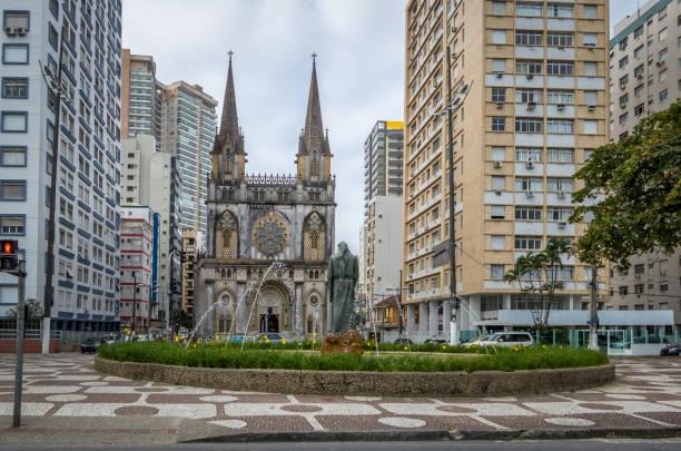 Santo Antonio Church - Santos, Sao Paulo, Brazil Santo Antonio Church - Santos, Sao Paulo, Brazil religious saint stock pictures, royalty-free photos & images