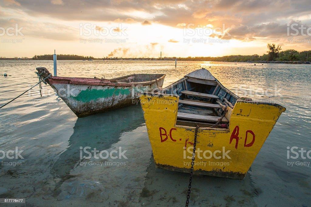 Santo Domingo Boats stock photo