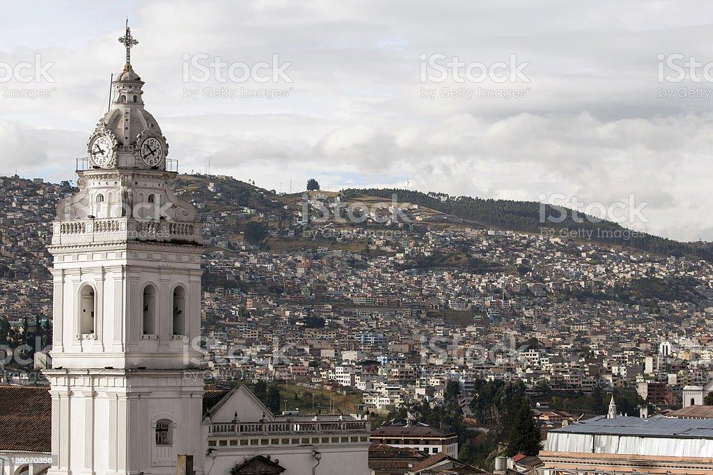 Santo Domingo Church in Quito, Ecuador stock photo