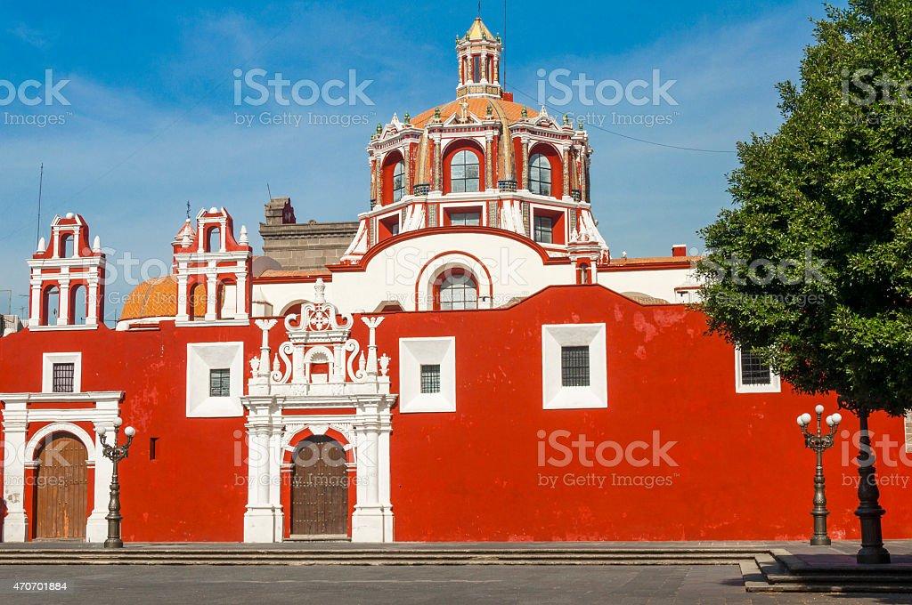Santo Domingo church, Puebla (Mexico) stock photo