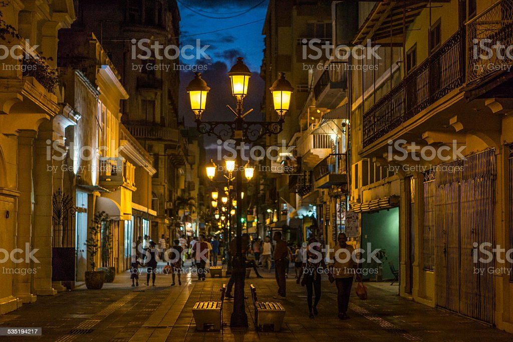 Santo Domingo Colonial Zone stock photo