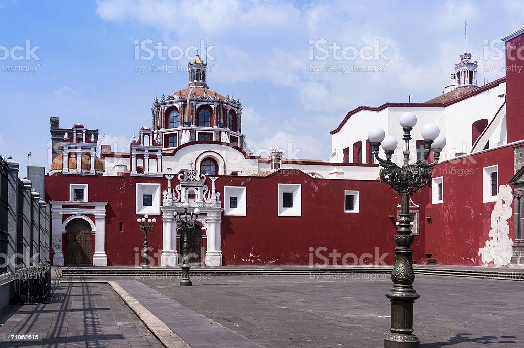 Santo Domingo de Puebla, Mexico stock photo