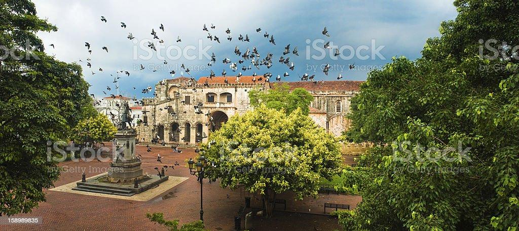 Santo Domingo Main Square stock photo