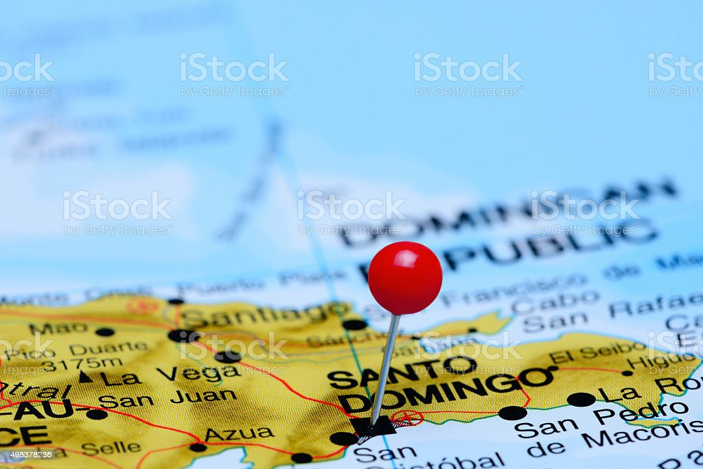 Santo Domingo Pinned On A Map Of America Stock Photo ... on veracruz on a map, ambergris caye on a map, bogotá on a map, st. augustine on a map, kiel canal on a map, ciudad de mexico on a map, cancún on a map, windhoek on a map, sao paulo on a map, maputo on a map, bucaramanga on a map, san juan del sur on a map, mar del plata on a map, majuro on a map, san paulo on a map, calbuco on a map, hermosillo on a map, havana on a map, san pedro sula on a map, salta on a map,