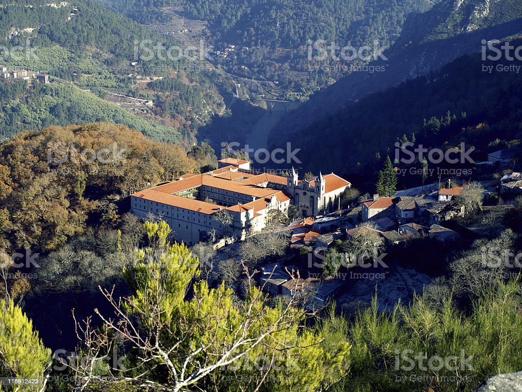 Santo Estevo Monastery royalty-free stock photo
