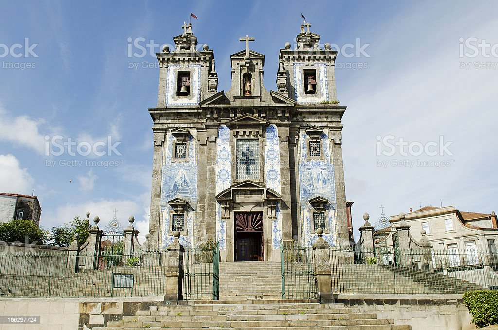 santo ildefonso church in porto portugal royalty-free stock photo