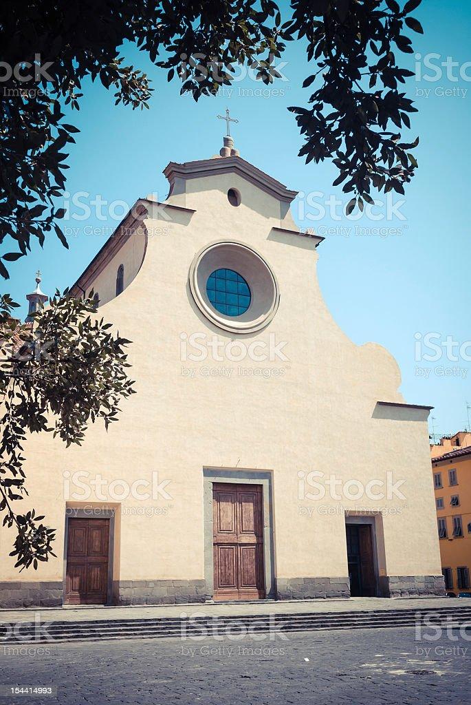 Kirche Santo Spirito Fassade in Florenz, Italien-vintage-Stil Lizenzfreies stock-foto
