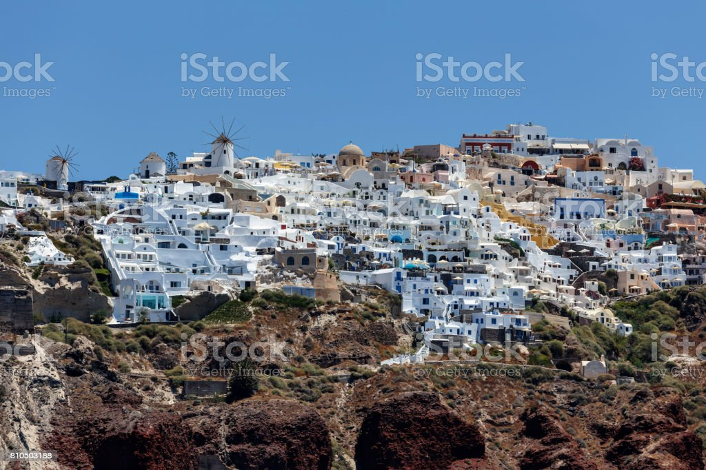 Santorini _ oia stock photo