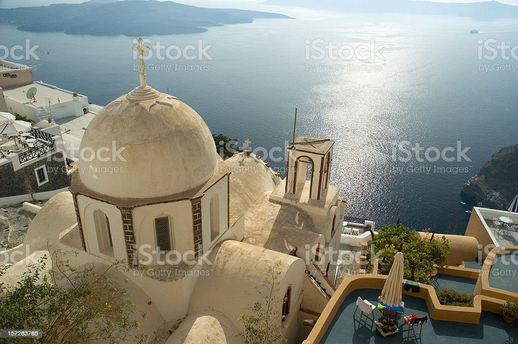 Santorini Bay royalty-free stock photo