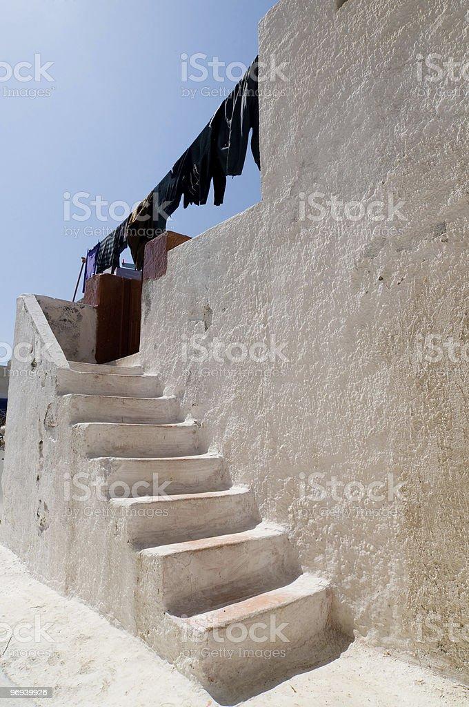 Santorini beautiful buildings royalty-free stock photo