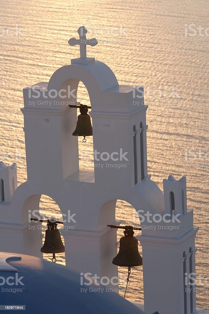 Santorini bell stock photo