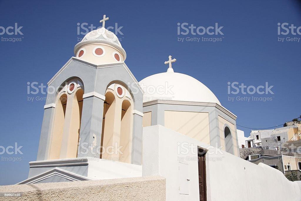 Санторини Церковь 3 Стоковые фото Стоковая фотография