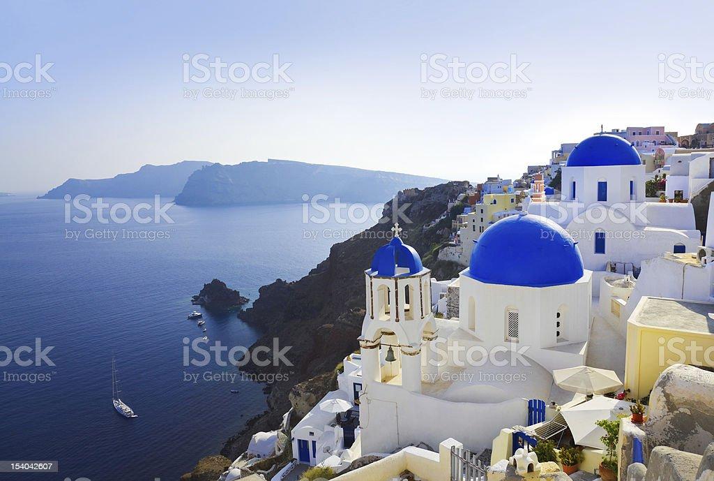 Santorini church (Oia), Greece stock photo