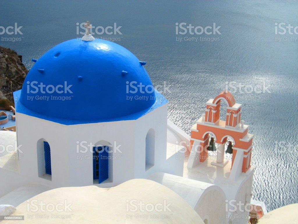 Santorini Church in the Afternoon Sun stock photo