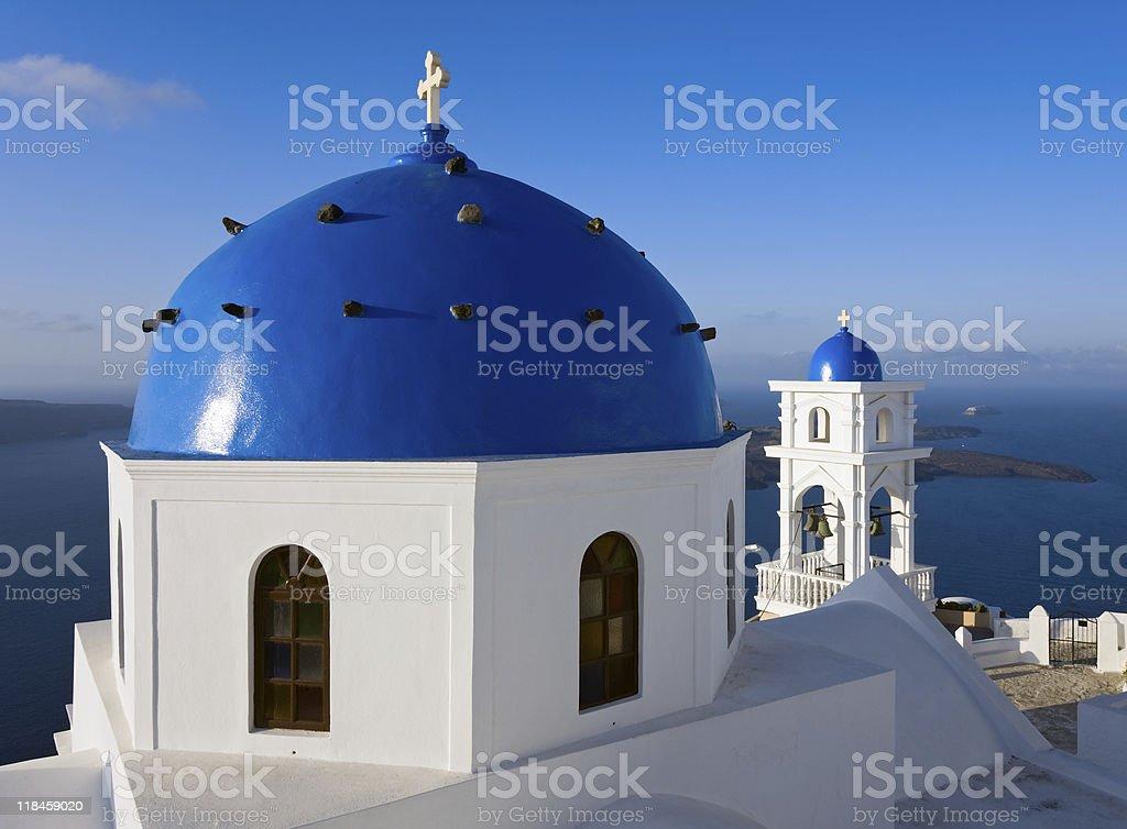 Santorini church royalty-free stock photo