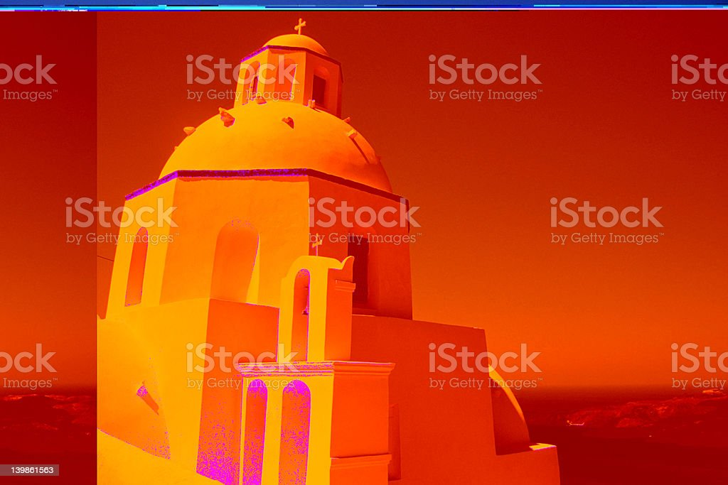 Santorini Church royalty-free stock photo