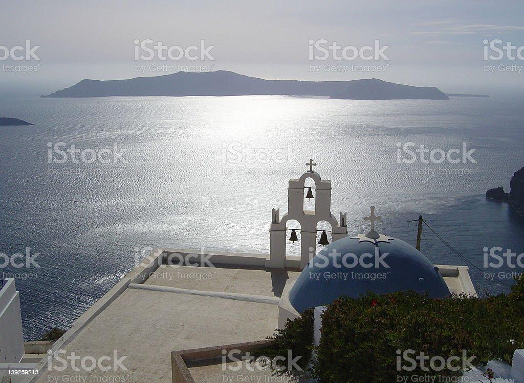 santorini church2 royalty-free stock photo