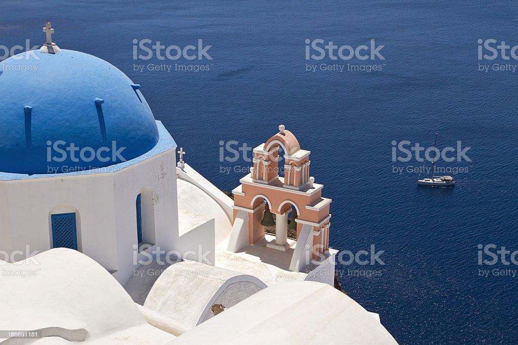 Santorini classical Greek church royalty-free stock photo