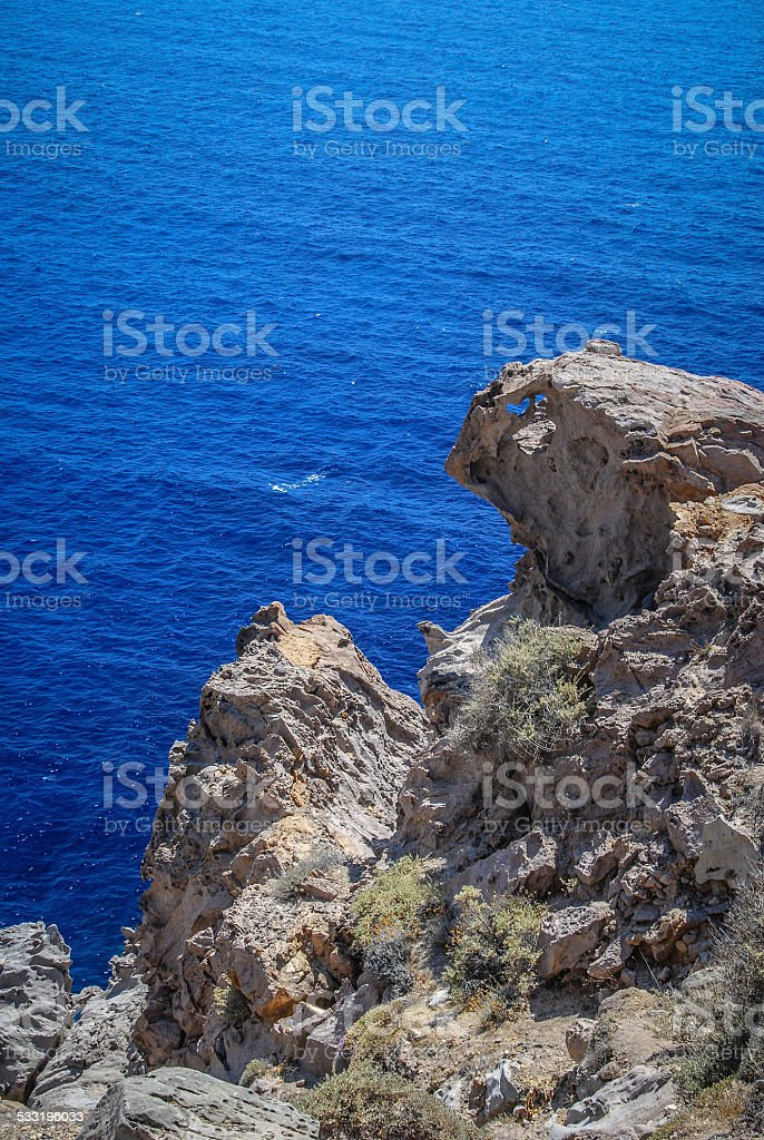 Santorini Cliff stock photo